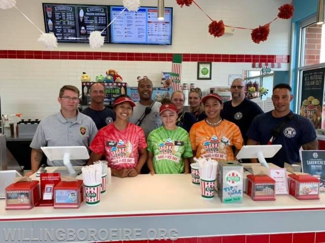 Willingboro Fire and EMS staff and the staff of Rita's Water Ice